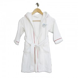5 Star Hotel Hooded Kids Cotton Velvet Bathrobe For Girls and Boys 20pcs pack