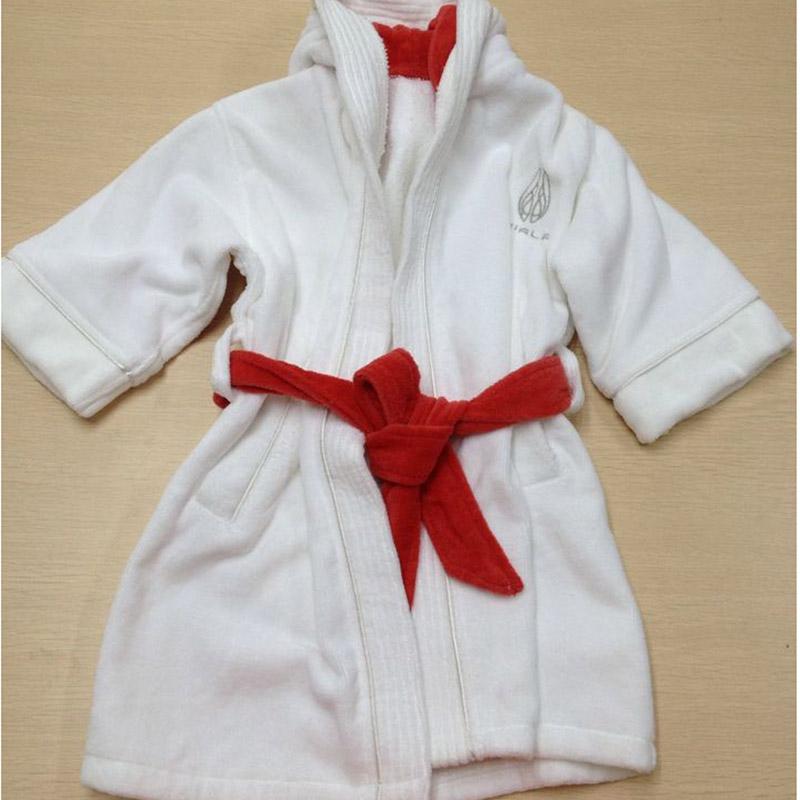 5 Star Hotel Kids Dobby Cotton Velvet hooded Bathrobe 20pcs pack