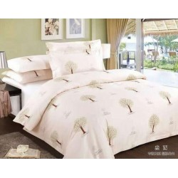 JOSHUA Cotton Three pieces Bedding Set with Jessie Printing in  Beige