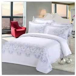 Cotton Printed Design Hotel Bed Sets