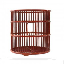Natural Bamboo Cylindrical Weaved Towel Basket