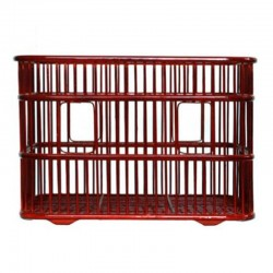 Natural Bamboo Rectangle Weaved Towel Basket in Red Brown