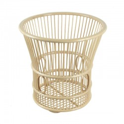 Natural Bamboo Oval Weaved Towel Basket