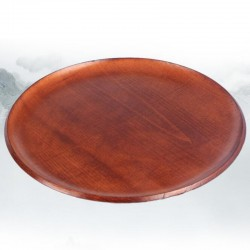 Natural Bamboo Raw Lacquer Round Tea Tray
