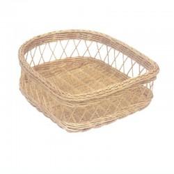Woven Rattan Shoe Basket