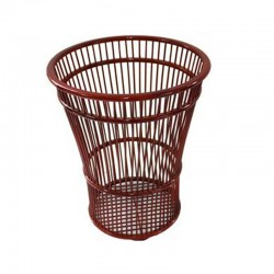 Natural Bamboo Hand Crafted Towel Basket in Brown