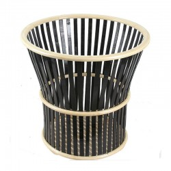 Double Color Horn Shape Bamboo Towel Basket Storage Basket