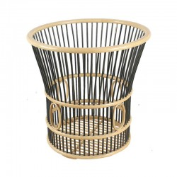 Double Color Porose Horn Shape Bamboo Towel Basket