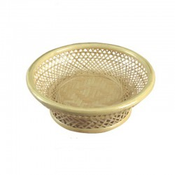 Weaved Bamboo Fruit Basket in Natural color