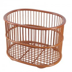 Oval Weaved Bamboo Towel Basket