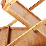 Natural Bamboo Foldable Magazine Rack 4pcs pack