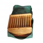 Six Layers Foldable Natural Bamboo Magazine Rack 4pcs pack