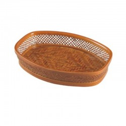 Oval Weaved Bamboo Fruit Tray