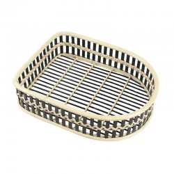 Two-tone Bamboo Weaved Shoes Basket