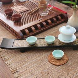 Rectangle Natural Bamboo Wooden Tea Tray