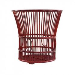 Natural Oval Weaved Towel Basket in Light Brown
