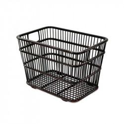 Natural Rectangle Weaved Towel Basket in Black