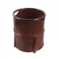 Natural Round Shape Bamboo Towel Baskets