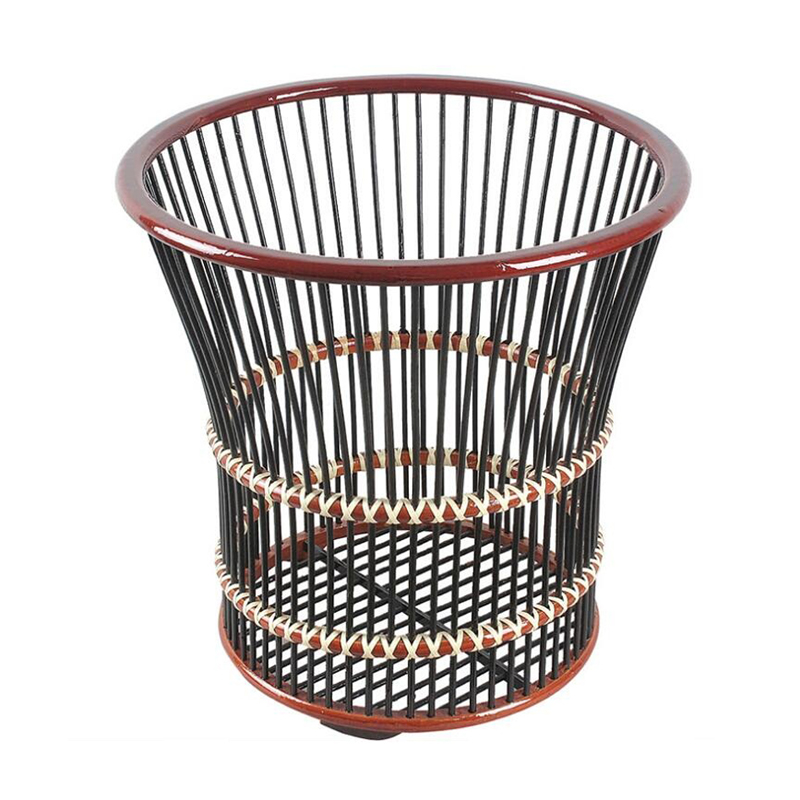 Natural Bamboo Double Color Towel Baskets for Hotel Bathrooms