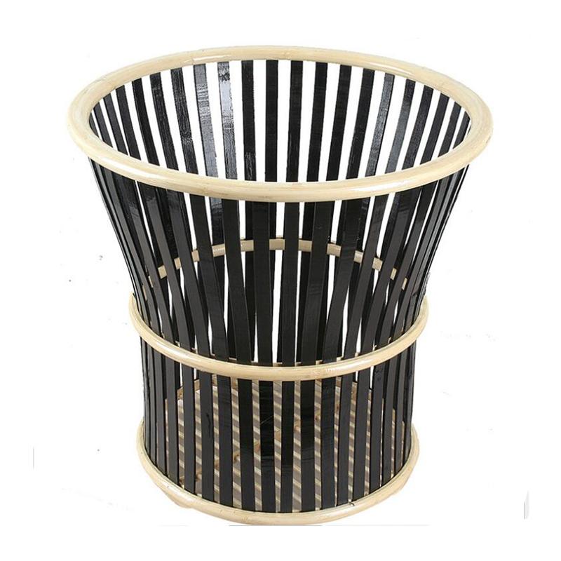 Double Color Horn Shape Bamboo Towel Basket Storage Basket
