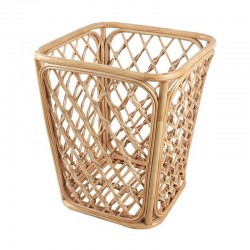 Natural Bamboo Hand Crafted Towel Basket in Square