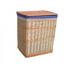 Natural Bamboo Oval Weaved Towel Basket