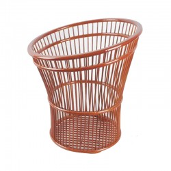 Natural Bamboo Towel Basket in Cylindrical