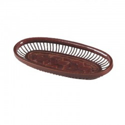 Natural Bamboo Weaved Towel Tray in Brown