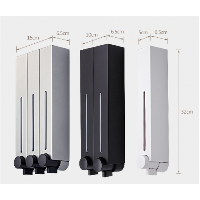Wall-mounted Household Hotel Bathroom Hand Pressure Soap Dispenser