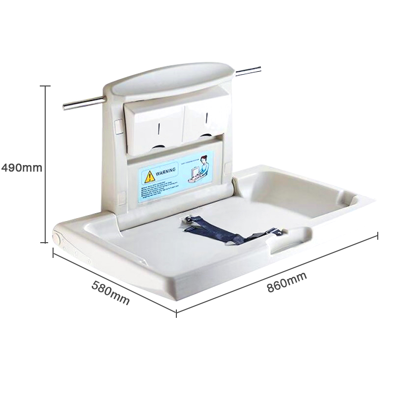Luxury PP Plastic Folding Baby Diaper Changing Table Stations 1pc pack