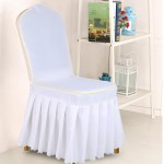 Chinese Banquet Pleated Solid Color Hotel Chair Cover