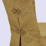 Chinese Banquet Pleated Jacquard Chair Cover
