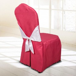 Thicken Plain Solid Color Hotel Chair Cover