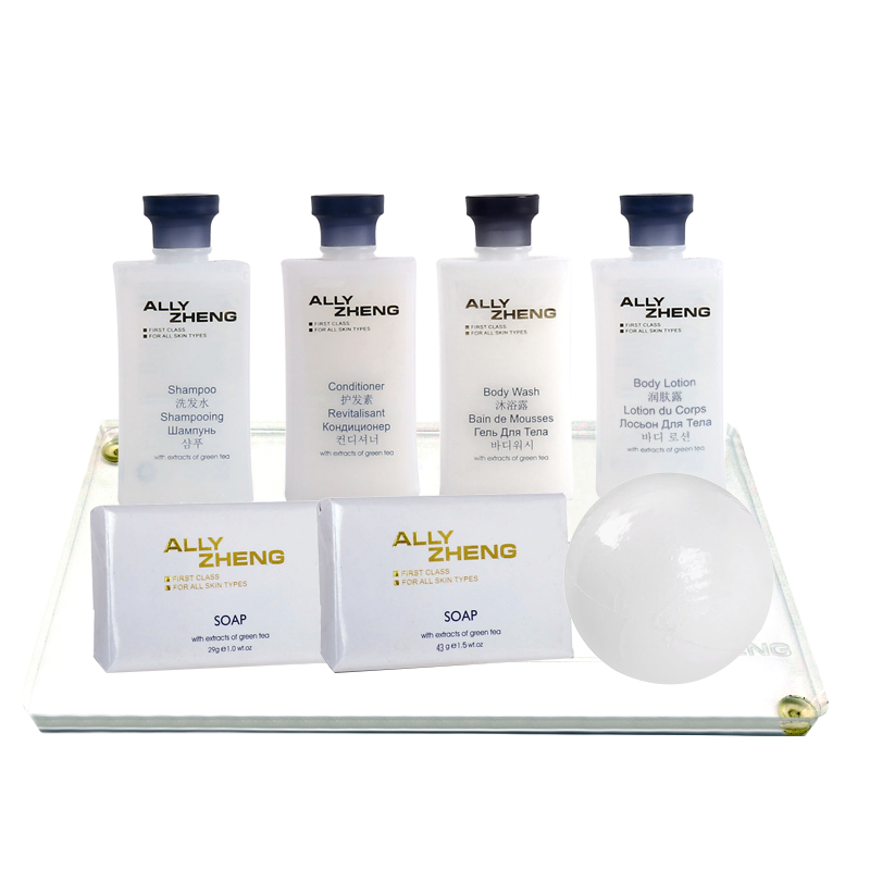 ALLY ZHENG Classic White Hotel Toiletries Set