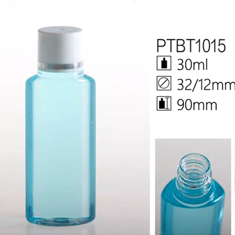 30ml Clear Blue Shampoo And Conditioner Bottles