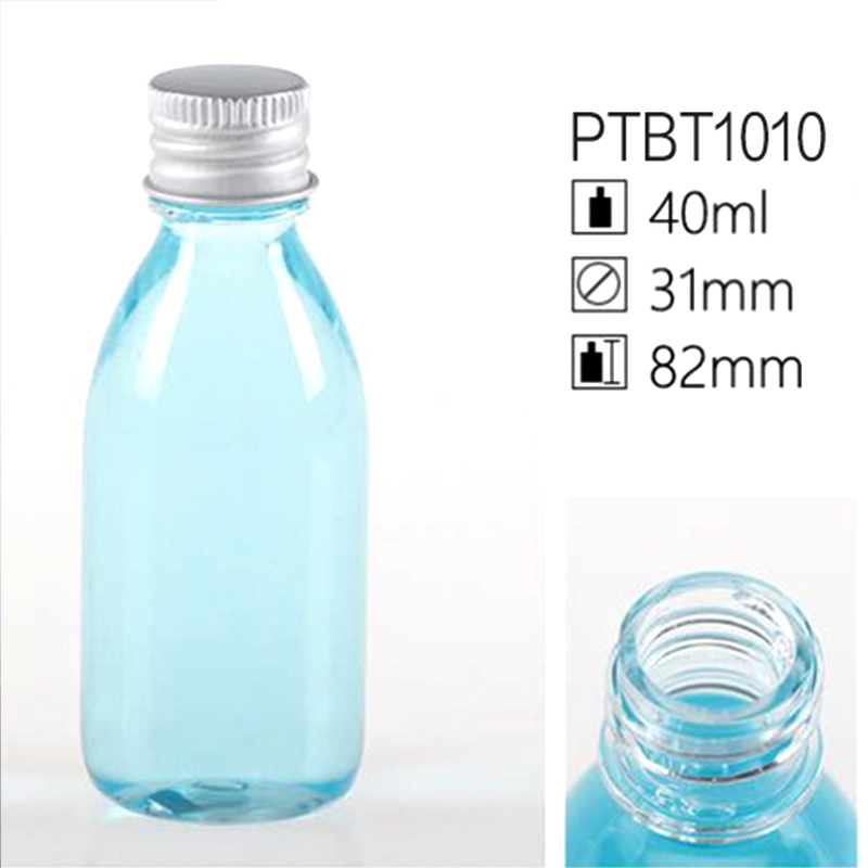 40ml Clear Sky Blue PET Lotion Container