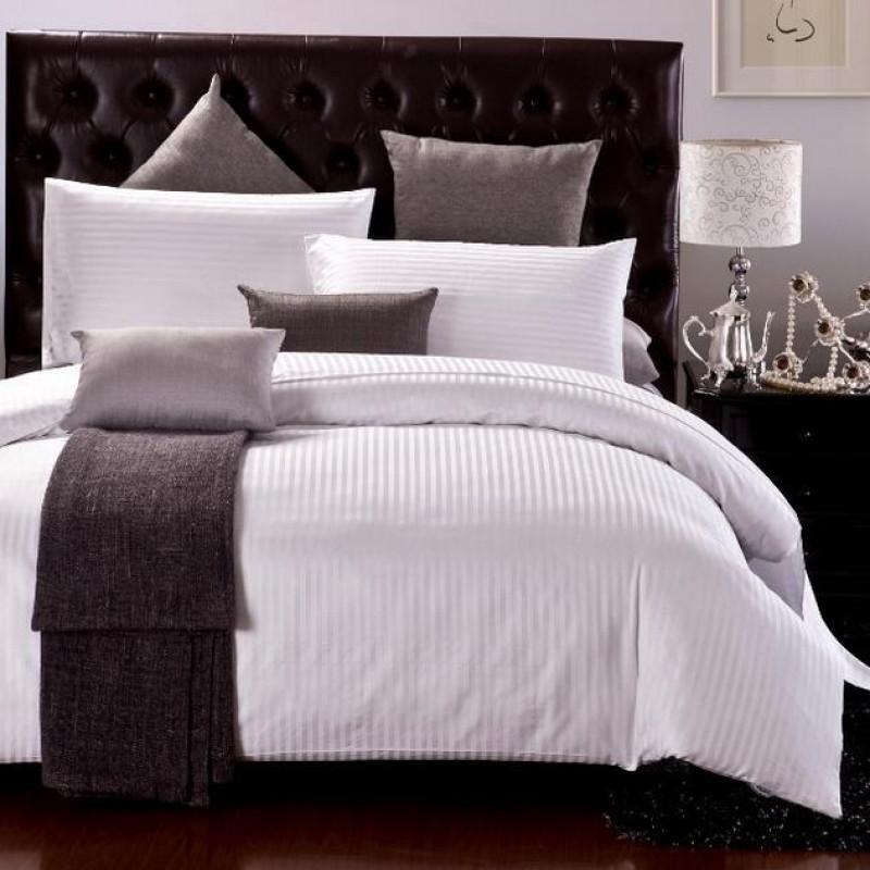 1cm Satin Strips Cotton Bed Sheet 250TC 10pcs pack