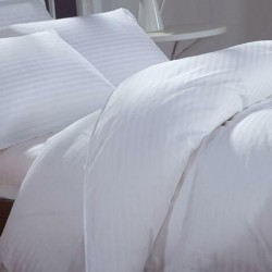 1cm Satin Strips Cotton Bed Sheet 330TC 10pcs pack