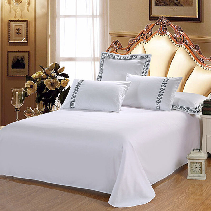 Combed Cotton White Bed Sheets 300TC 10pcs pack