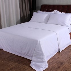 ​Combed Cotton White Bed Sheets 250TC 10pcs pack