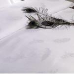 Cotton Duvet Cover Jacquard Feathers Pattern 250TC 10pcs pack