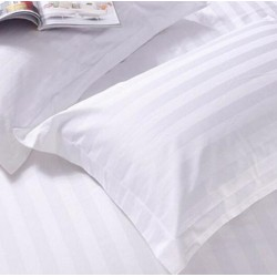 JOSHUA 3cm Satin Strips Cotton Pillow Case 330TC 100pcs pack