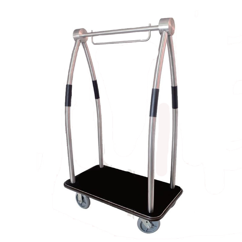Brushed 304 Stainless Steel Luggage Cart 1pc pack