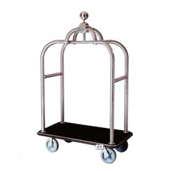 Deluxe Stainless Steel Apple Luggage Cart 1pcs pack