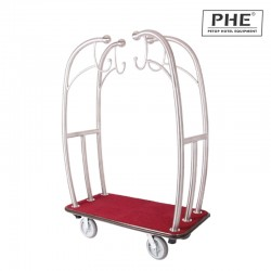 Deluxe Stainless Steel Luggage Cart 1pc pack