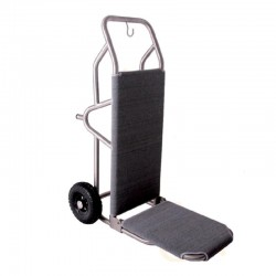 Elegant Gray Stainless Steel Lobby Luggage Cart 2pcs pack