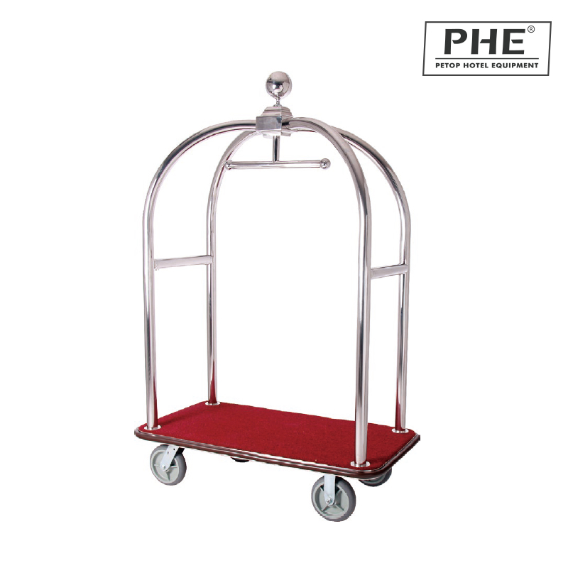 Luxury Apple Luggage Cart with Stainless Steel Frame 1pc pack