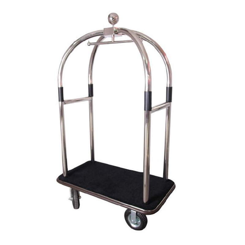 Luxury Stainless Steel Luggage Cart 1pc pack