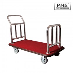 Shinning Stainless Steel Convertible Hand Luggage Cart 1pc pack