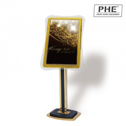 Deluxe Glass Frame Indication Sign 1pc pack